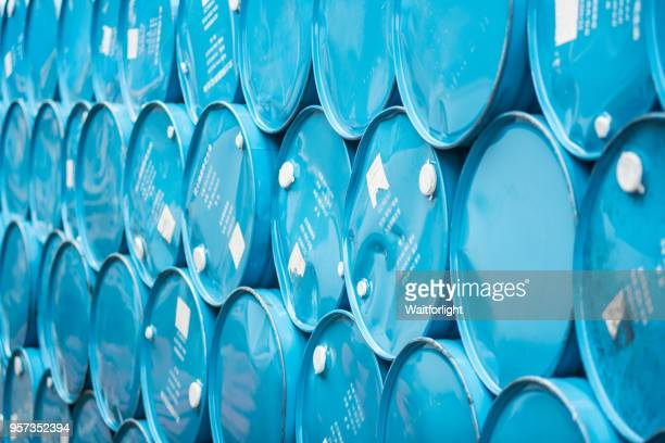 barrel stacked docker - toxic waste stock pictures, royalty-free photos & images