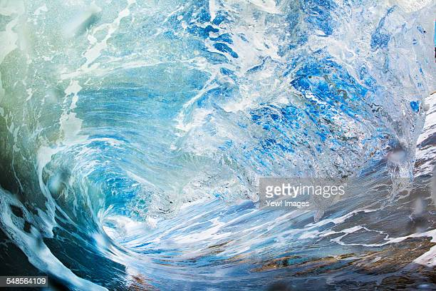 Barreling wave, close-up, California, USA
