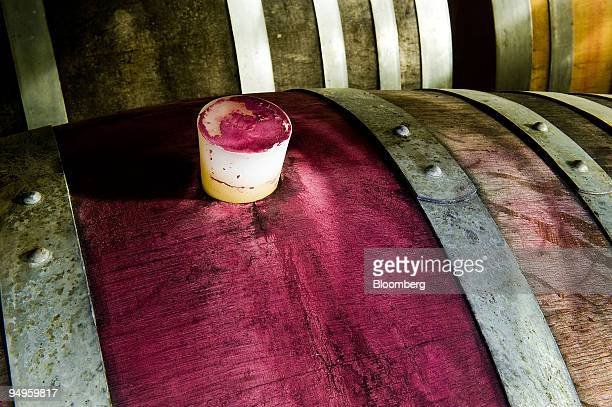 Barrels are stored in the cask room at the Villa Maria Estate Ltd winery in Marlborough New Zealand on Tuesday June 23 2009 A record Sauvignon Blanc...