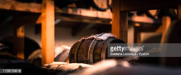 barrels in warehouse - modena stock pictures, royalty-free photos & images