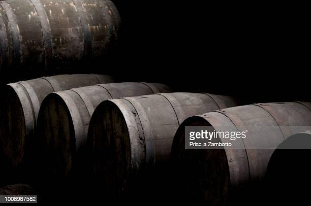 Barrels of Cachaça. Fazenda Murycana. Paraty, RJ, Brazil.