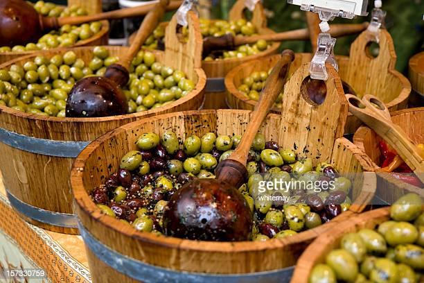 Barrels of olives