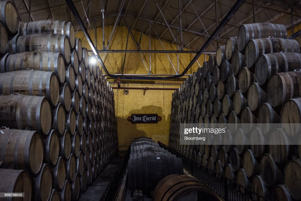 Barrels of tequila sit to age at the Becle SAB Jose Cuervo distillery in the town of Tequila, Jalisco state, Mexico, on Thursday, May 3, 2018. Jose Cuervo sales are benefiting from the trend toward premium spirits, with solid volume and higher average prices driving mid- to high-single-digit top-line growth.Photographer: Mauricio Palos/Bloomberg via Getty Images