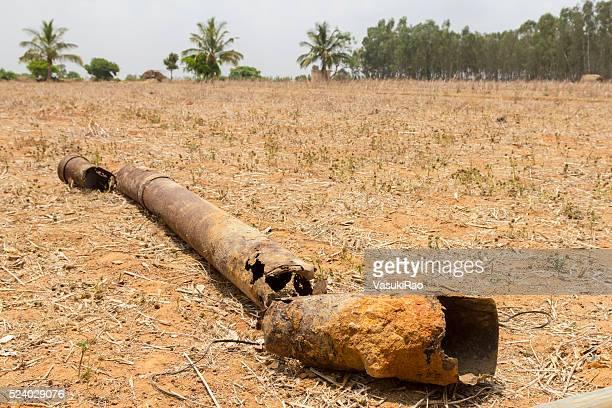 barren  and dry agriculture land, kolar, karnataka, india - karnataka stock pictures, royalty-free photos & images
