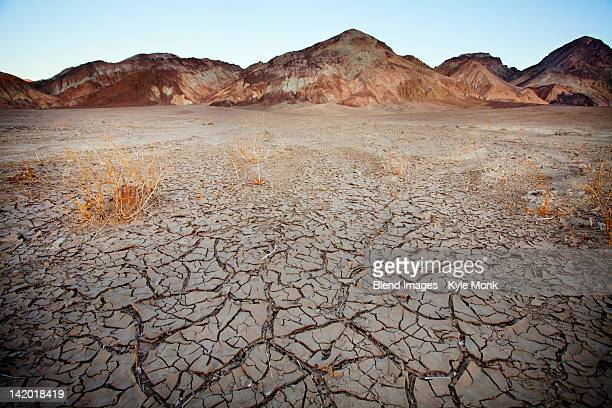 Barren earth in Death Valley