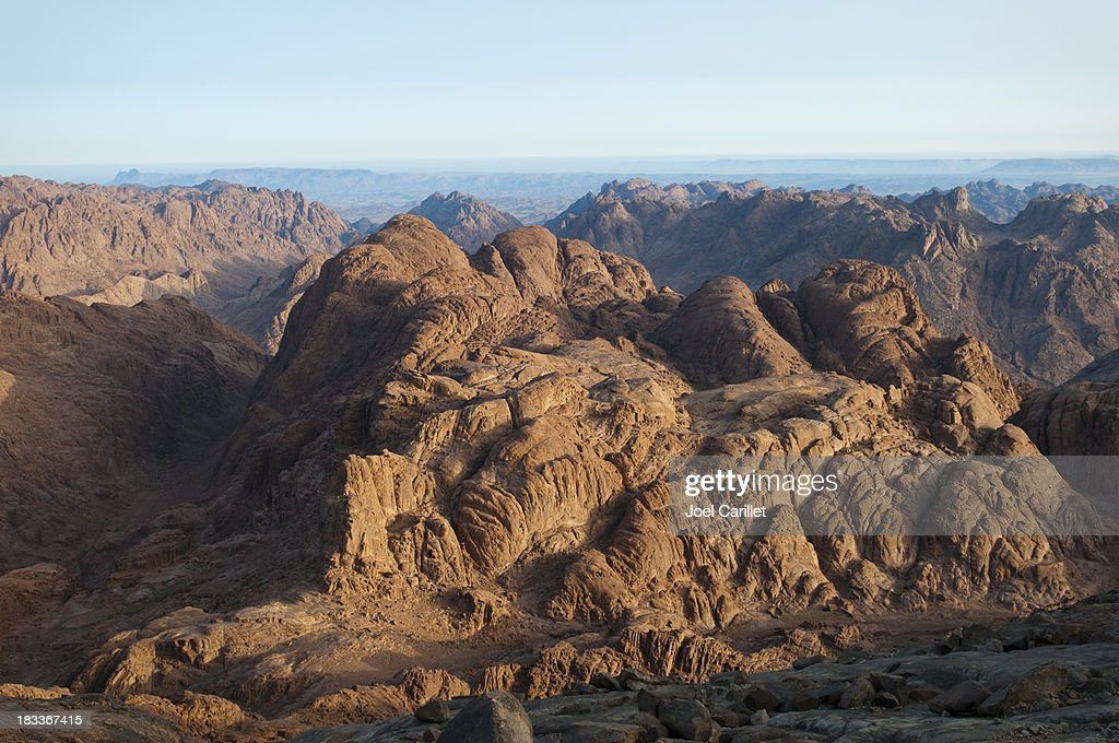 Dramatic barren view from Mount Sinai : Stock Photo