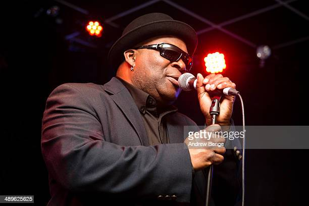 Barrence Whitfield of Barrence Whitfield And The Savages performs on stage at Brudenell Social Club on May 11, 2014 in Leeds, United Kingdom.