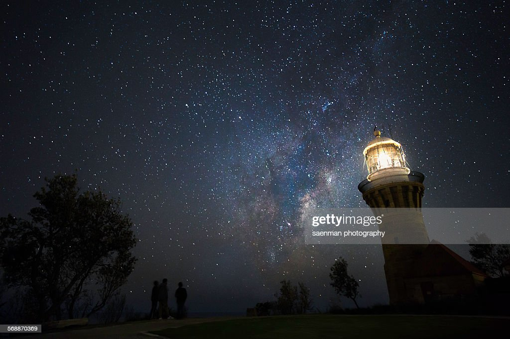 Barrenjoey lighthouse : Stock Photo