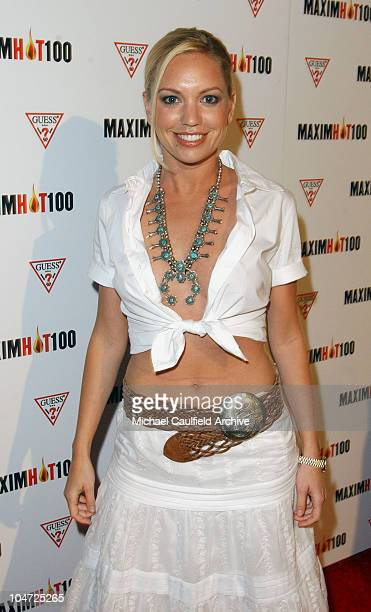 Barret Swatek during Maxim Hot 100 Party Arrivals at Yamashiro in Hollywood California United States