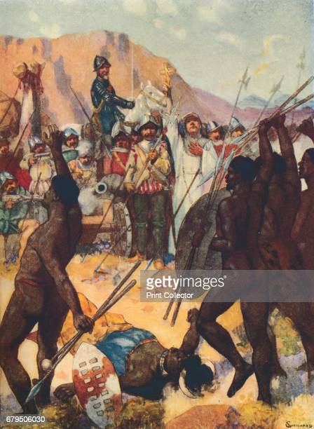 Barreto Fights the Kafirs' 1909 Francisco Barreto Portuguese soldier and explorer fought several battles against the Mongas From Romance of Empire...