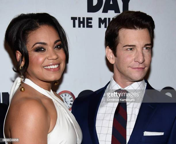 Barrett Doss and Andy Karl attend the Groundhog Day Broadway Opening Night at Gotham Hall on April 17 2017 in New York City