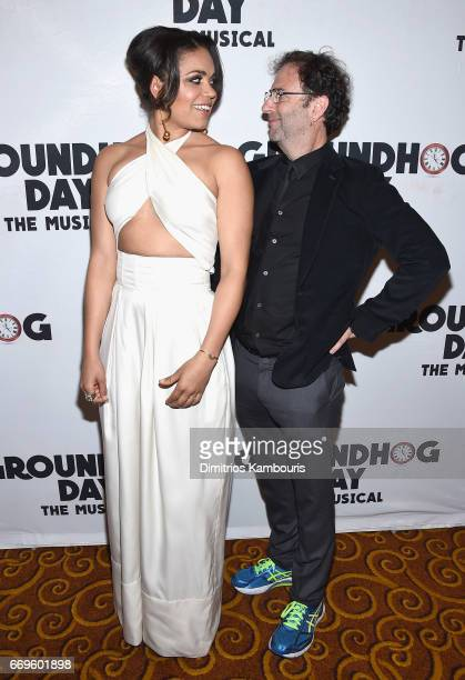 """Barrett Doss and writer Danny Rubin attend the """"Groundhog Day"""" Broadway Opening Night at Gotham Hall on April 17, 2017 in New York City."""