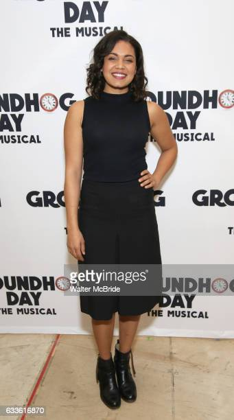 Barrett Doss attends the Groundhog Day'' press day at The New 42nd Street Studios on February 2 2017 in New York City