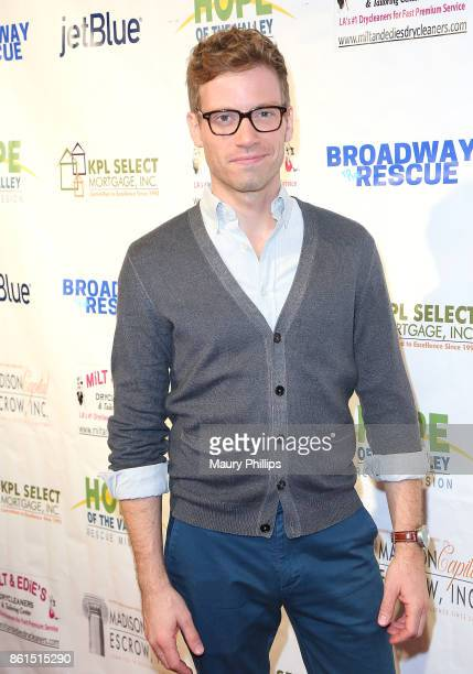 Barrett Foa attends Broadway to The Rescue a benefit for the homeless at The Montalban Theater on October 14 2017 in Los Angeles California