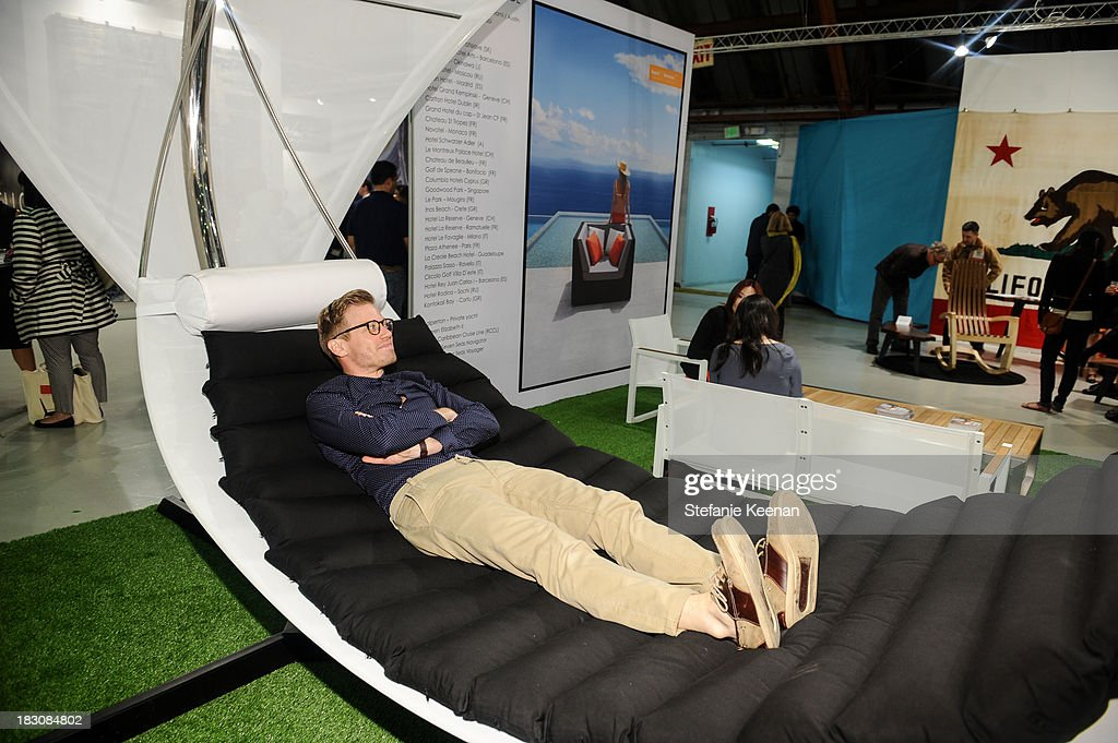 Barrett Foa attends WestEdge Design Fair at Barker Hangar on October 3, 2013 in Santa Monica, California.