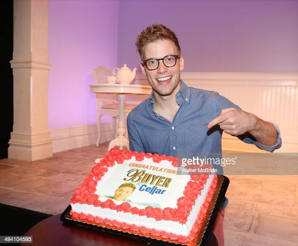 Barrett Foa celebrates first performance in the Smash Hit Comedy 'Buyer Cellar' at the Barrow Street Theatre on May 27 2014 in New York City