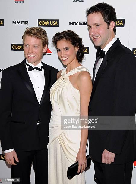 Barrett Foa, Daniela Rua and Peter Cambor arrive to the 2010 Australia Week Black Tie Gala held to the Highlands club in the Hollywood & Highland...