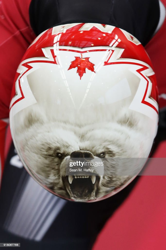Barrett Martineau of Canada makes a run during a Men's Skeleton training session on day five of the PyeongChang 2018 Winter Olympics at the Olympic Sliding Centre on February 14, 2018 in Pyeongchang-gun, South Korea.