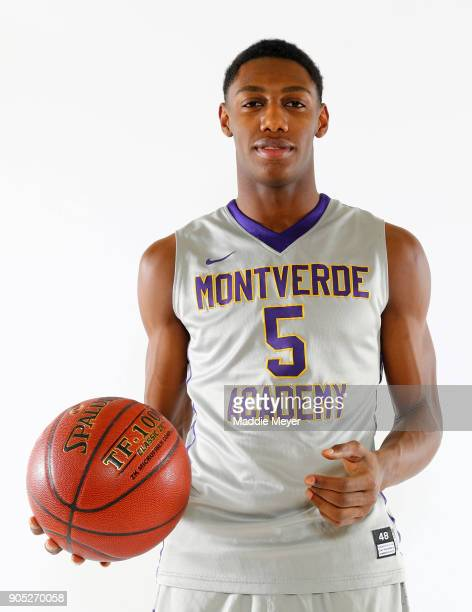 J Barrett of Montverde Academy poses for a portrait during the 2018 Spalding Hoophall Classic at Blake Arena at Springfield College on January 15...