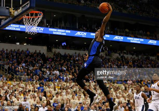 Barrett of the Duke Blue Devils dunks against the Pittsburgh Panthers at Petersen Events Center on January 22 2019 in Pittsburgh Pennsylvania