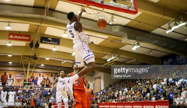 Barrett of the Duke Blue Devils dunks the ball off the fast break during the second half of the game against the Auburn Tigers at the Lahaina Civic...