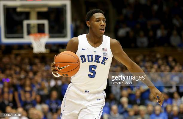 Barrett of the Duke Blue Devils during their game at Cameron Indoor Stadium on November 11 2018 in Durham North Carolina