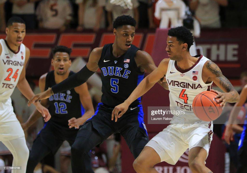 Duke  v Virginia Tech : News Photo