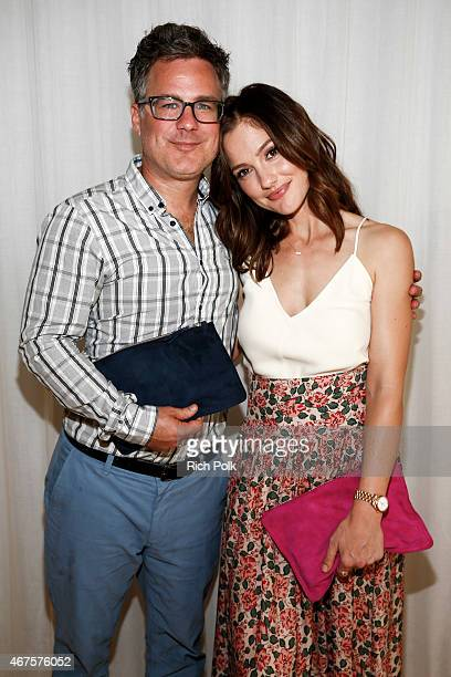 Barrett Ward Founder of fashionABLE and actress Minka Kelly pose for a photo at an event where Minka Kelly launches a bag line with fashionABLE to...