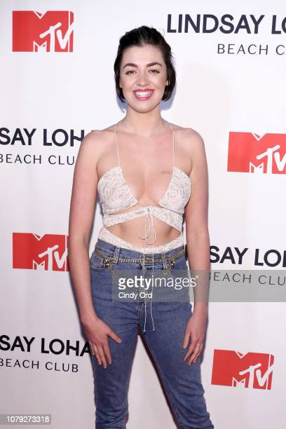 Barrett Wilbert Weed attends MTV's 'Lindsay Lohan's Beach Club' Premiere Party at Moxy Times Square on January 7 2019 in New York City