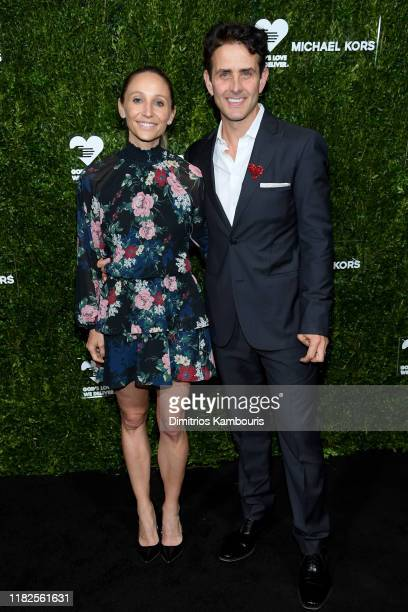 Barrett Williams and Joey McIntyre attend God's Love We Deliver Golden Heart Awards on October 21 2019 in New York City