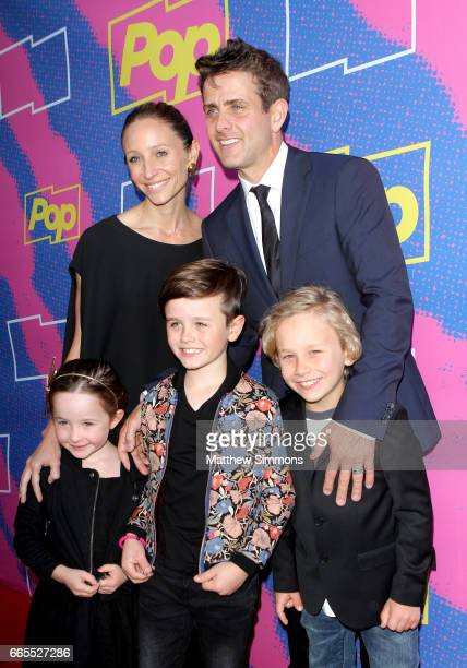 Barrett Williams Joey McIntyre Kira McIntyre Griffin McIntyre and Rhys McIntyre attend the premiere of Pop TV's 'Hollywood Darlings' at iPic Theaters...