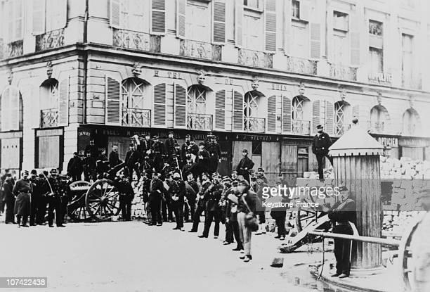 Barricade During The Paris Commune In Paris On 1871