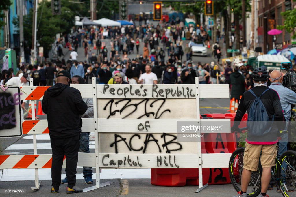 Anti-Racism Protests Continue In Seattle : News Photo