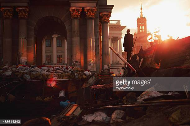 Des Barricades de Euromaidan Kiev reste