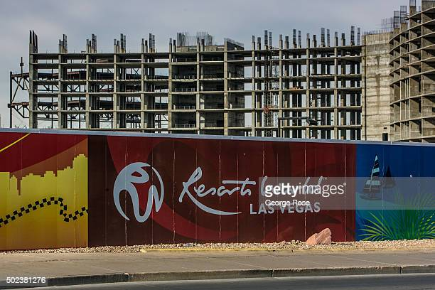 Barricades at Resort World, a proposed construction project that includes a resort hotel and casino on Las Vegas Blvd, is viewed on December 7, 2015...