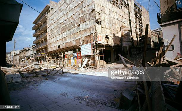 Barricades in a deserted road of central Calabria where there have been disturbances due to the decision taken by the provincial capital Reggio...