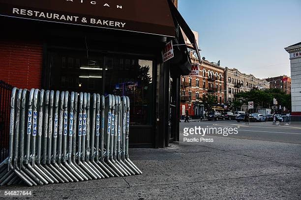 Barricades to the intersection of Clarendon Road and Flatbush Avenue in anticipation of large unruly crowds but it was relatively small and not as...