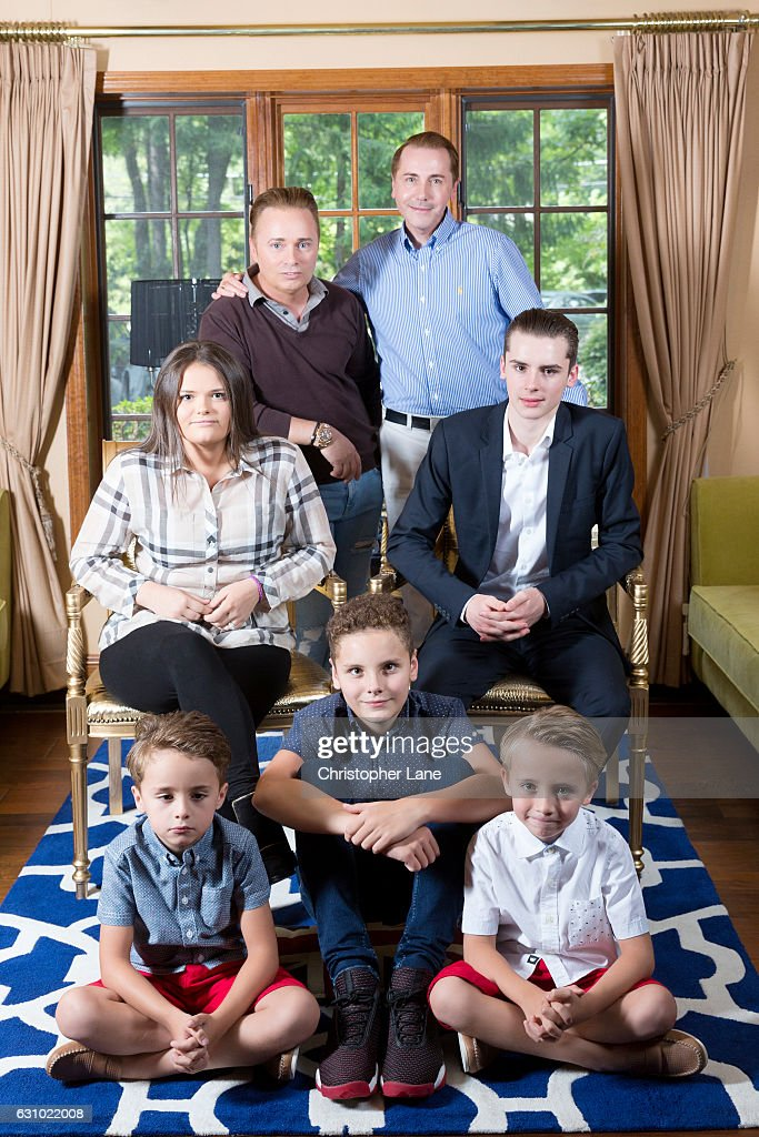 Barrie and Tony Drewitt-Barlow are photographed with family