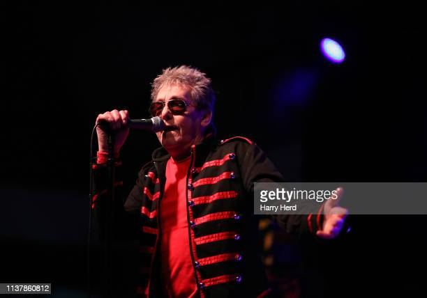 Barrie Masters of Eddie and the Hot Rods performs on stage at Pyramids Plaza on March 23 2019 in Portsmouth England