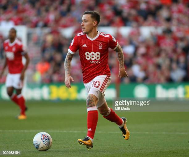 Barrie McKay in action during the first half of the EFL fixture between Nottingham Forest and Millwall at The City Ground Nottingham 4th August 2017