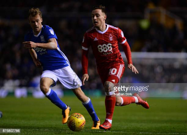 Barrie McKay of Nottingham Forest in action during the Sky Bet Championship match between Birmingham City and Nottingham Forest at St Andrews on...