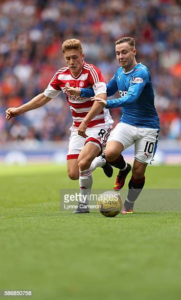 Barrie McKay of Rangers and Greg Docherty of Hamilton Academical during the Ladbrokes Scottish Premiership match between Rangers and Hamilton...
