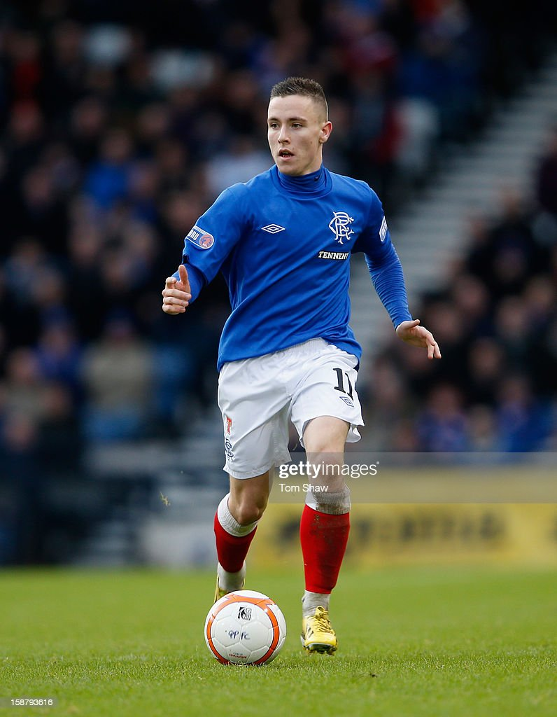 Barrie McKay of Rangers during the IRN-BRU Scottish Third Division match between Queens Park and Rangers at Hampden Park on December 29, 2012 in Glasgow, Scotland.