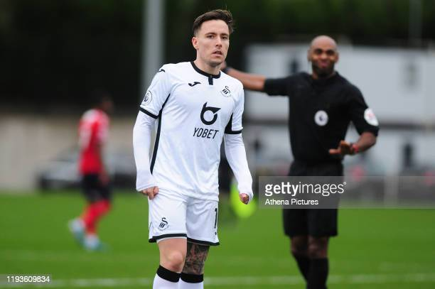 Barrie McKay of Swansea City u23 during the Premier League 2 Division Two match between Swansea City u23s and Middlesbrough u23s at Swansea City AFC...