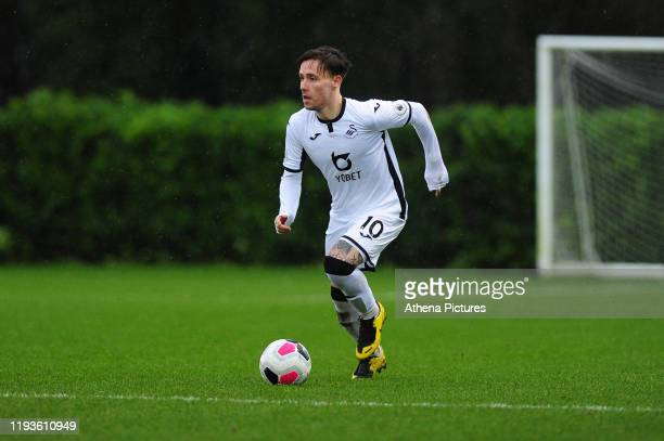 Barrie McKay of Swansea City u23 in action during the Premier League 2 Division Two match between Swansea City u23s and Middlesbrough u23s at Swansea...
