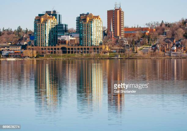 barrie morning reflections - barrie stock pictures, royalty-free photos & images