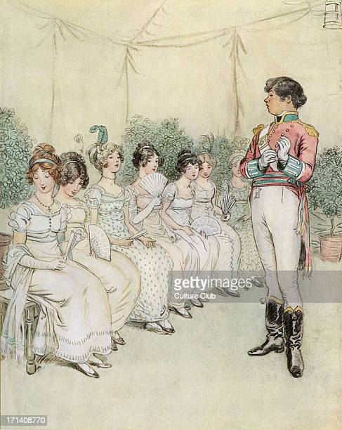 J M Barrie 'Quality Street' comedy first performed in 1901 New York Act III Ensign Blades appears frowning and Charlotte ventures to touch his sleeve...