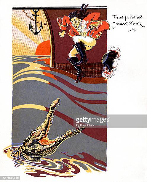 J M Barrie s Peter Pan Thus perished James Hook James Matthew Barrie Scottish novelist and playwright 9 May 1860 – 19 June 1937 Illustration by...