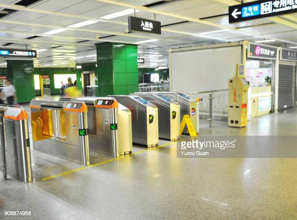 Barrier gate in subway.
