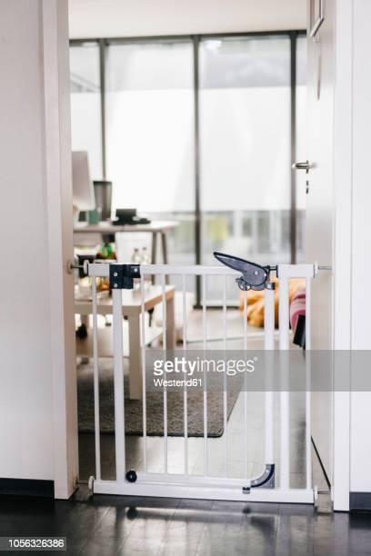 Barrier in office door